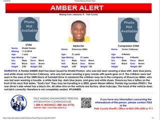 Amber Alert canceled for 4-week-old, 1-year-old