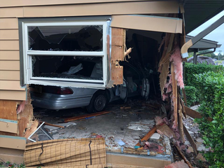 Car crashes into Spring Hill home, 1 injured