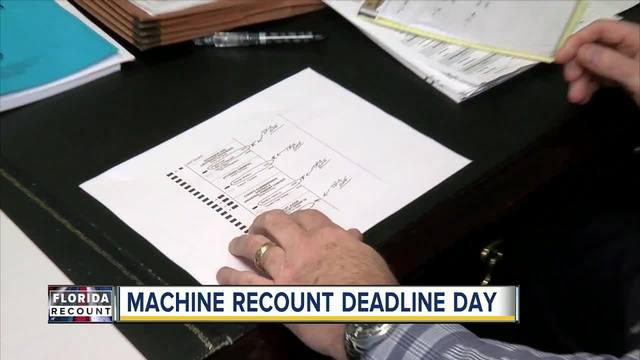 Florida counties face deadline to wrap up machine recounts on Thursday