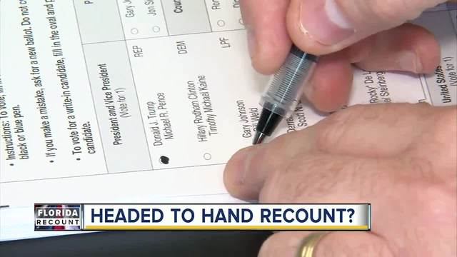 Florida counties face deadline to wrap up machine recounts on Thursday-…