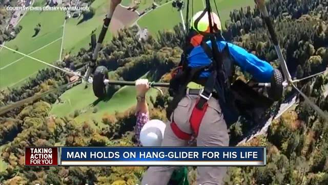 Must See Video Hang-Glider Holds On For Dear Life After Pilot Forgets To Strap Him In -3460