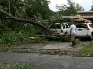 Large storm brings damage to Tampa Bay