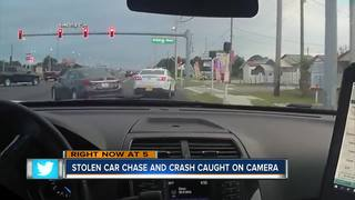 14-year-old car thief caught after crash