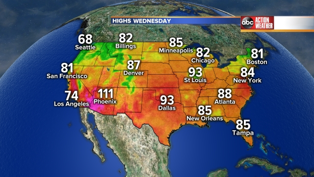 National Highs Tomorrow